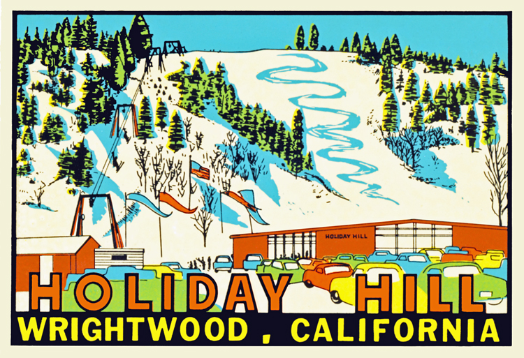 Big Pines 1950/'s Advertising Poster Ski Holiday Hill Wrightwood Ca